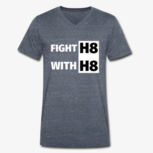 FIGHTH8 bright - Men's Organic V-Neck T-Shirt by Stanley & Stella