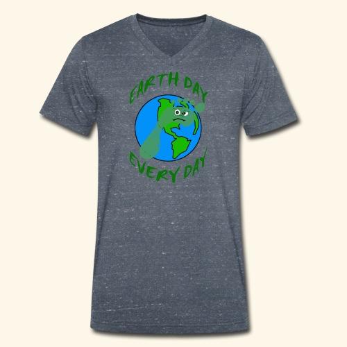 Earth Day Every Day - Männer Bio-T-Shirt mit V-Ausschnitt von Stanley & Stella