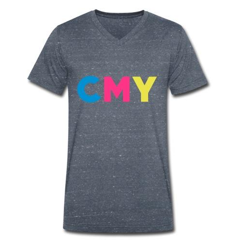 CMYK - Mannen bio T-shirt met V-hals van Stanley & Stella