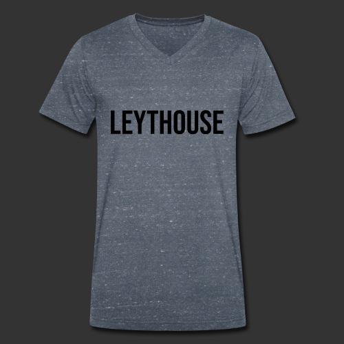 LEYTHOUSE main logo black - Men's Organic V-Neck T-Shirt by Stanley & Stella