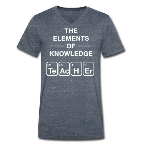 Lustig Periodensystem Lehrer Shirt Geschenk - Männer Bio-T-Shirt mit V-Ausschnitt von Stanley & Stella