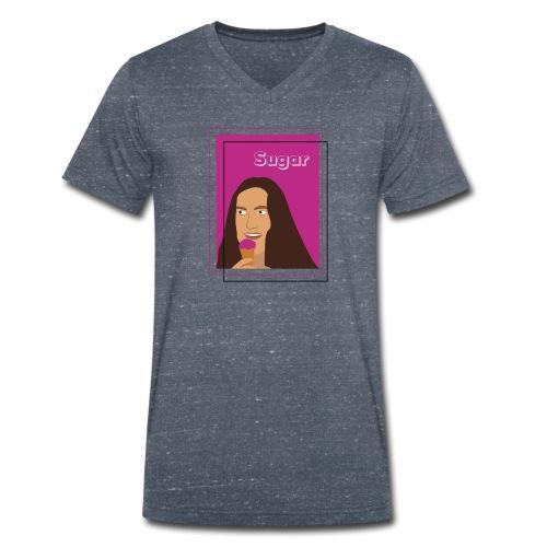 SUGAR - Camiseta ecológica hombre con cuello de pico de Stanley & Stella