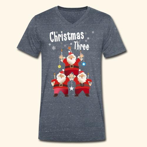 Christmas Three Weihnacht Baum drei - Männer Bio-T-Shirt mit V-Ausschnitt von Stanley & Stella