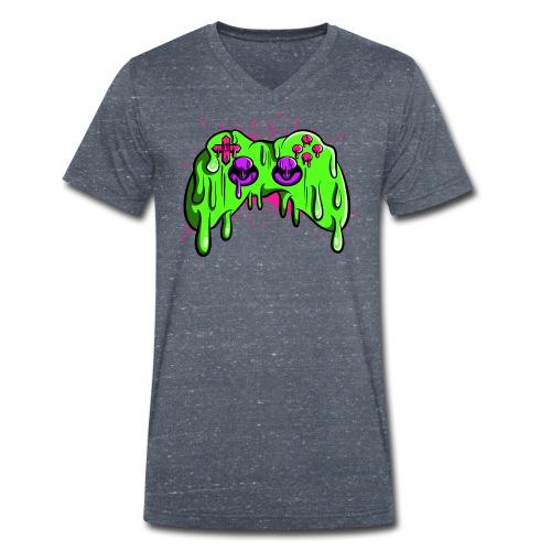 Controller geschmolzen - Männer Bio-T-Shirt mit V-Ausschnitt von Stanley & Stella