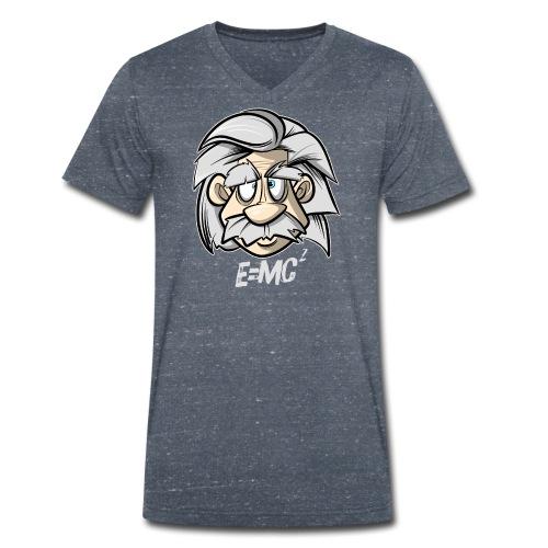 Albert Einstein E=MC2 - Männer Bio-T-Shirt mit V-Ausschnitt von Stanley & Stella