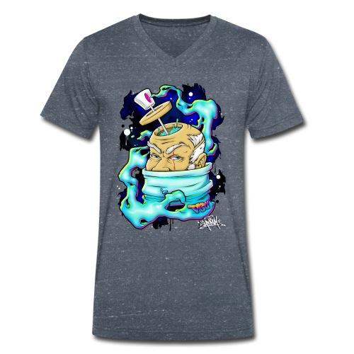 Spray Genius - Graffiti character design - T-shirt bio col V Stanley & Stella Homme