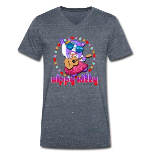 Hippy Kitty - T-shirt ecologica da uomo con scollo a V di Stanley & Stella