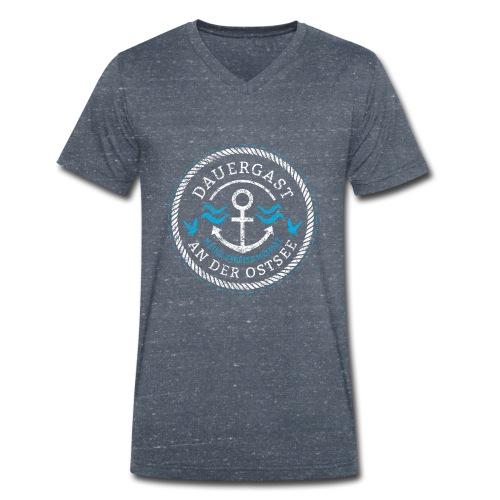 Ich bin Dauergast an der Ostsee - Männer Bio-T-Shirt mit V-Ausschnitt von Stanley & Stella