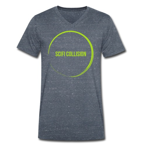 Lime Green SC Logo - Men's Organic V-Neck T-Shirt by Stanley & Stella