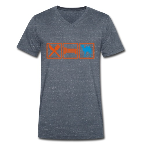 eatsex chameau2 - T-shirt bio col V Stanley & Stella Homme