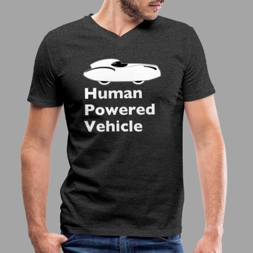 Quattrovelo Human Powered Vehicle white - Stanley & Stellan miesten luomupikeepaita