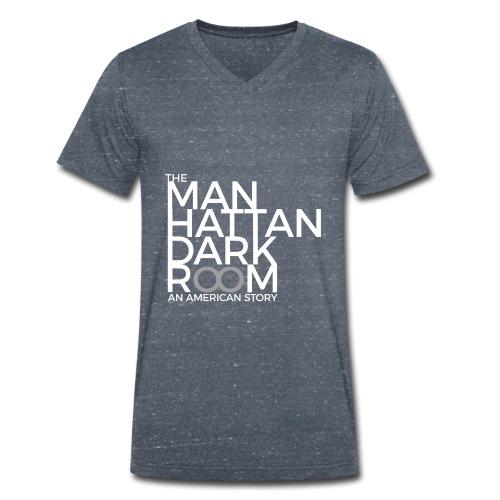 THE MANHATTAN DARKROOM BLANC GRIS - T-shirt bio col V Stanley & Stella Homme