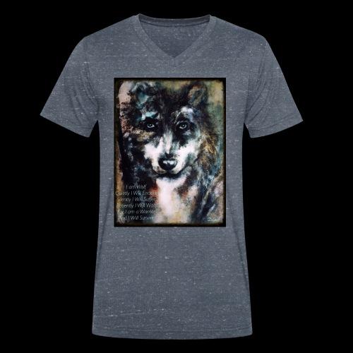 wolf - Mannen bio T-shirt met V-hals van Stanley & Stella