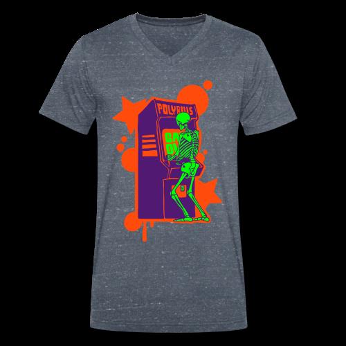 Hi-Score: Crazy Neon - Ekologiczna koszulka męska z dekoltem w serek Stanley & Stella