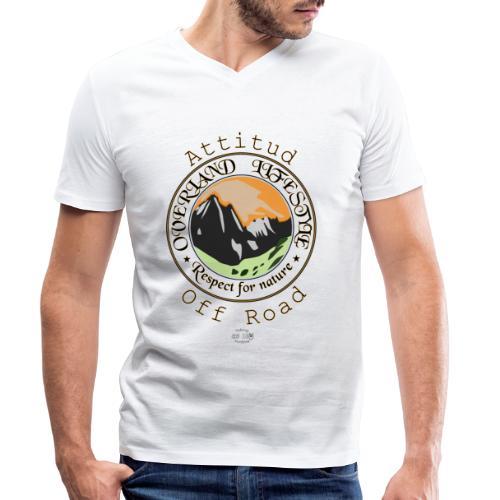 24 Overland LifeStyle - Camiseta ecológica hombre con cuello de pico de Stanley & Stella