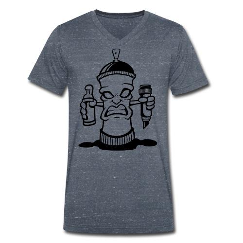 Graffiti Spraydose - Männer Bio-T-Shirt mit V-Ausschnitt von Stanley & Stella