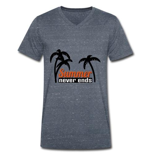 summer never end - Männer Bio-T-Shirt mit V-Ausschnitt von Stanley & Stella