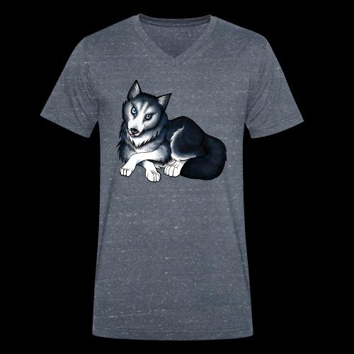 Husky - Men's Organic V-Neck T-Shirt by Stanley & Stella