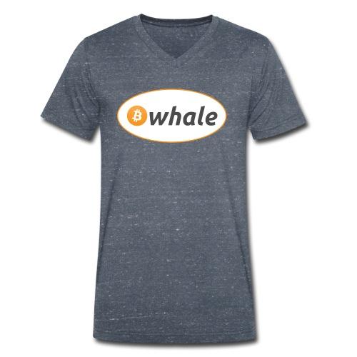 Bitcoin Whale - Men's Organic V-Neck T-Shirt by Stanley & Stella