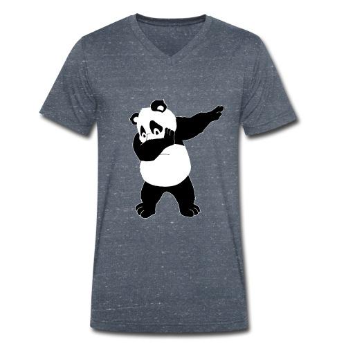 Dabbing Panda Bär - Männer Bio-T-Shirt mit V-Ausschnitt von Stanley & Stella