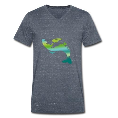 Küstenfisch - Männer Bio-T-Shirt mit V-Ausschnitt von Stanley & Stella