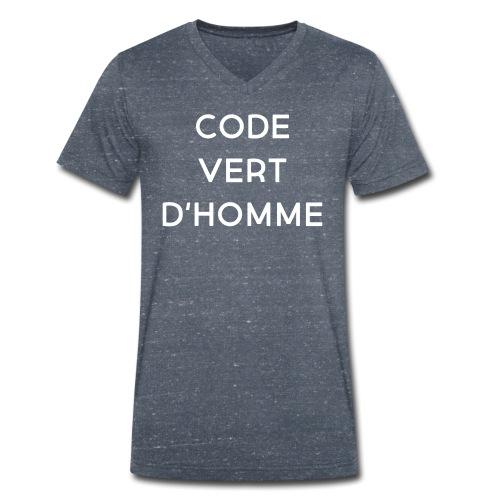 code vert dhomme - Mannen bio T-shirt met V-hals van Stanley & Stella