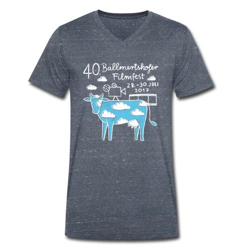 170415 B Filmfest Kuh weisse Schrift png - Männer Bio-T-Shirt mit V-Ausschnitt von Stanley & Stella