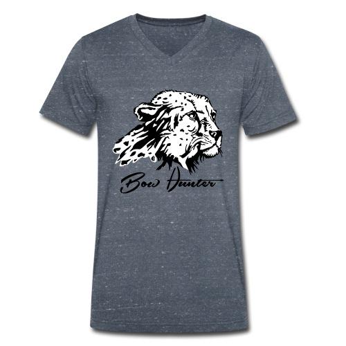 Bow Hunter Gepard 2 färbig - Männer Bio-T-Shirt mit V-Ausschnitt von Stanley & Stella