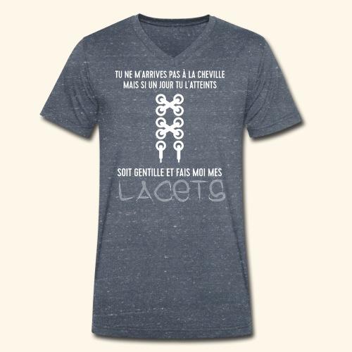cheville et lacets - T-shirt bio col V Stanley & Stella Homme