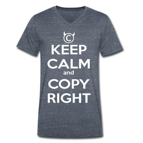 Keep Calm and Copyright - Tank for the individual - Männer Bio-T-Shirt mit V-Ausschnitt von Stanley & Stella