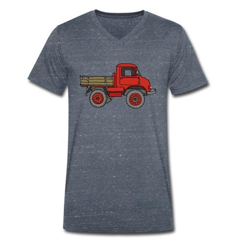 Roter Lastwagen, LKW, Laster - Männer Bio-T-Shirt mit V-Ausschnitt von Stanley & Stella