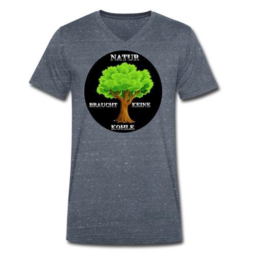 NATUR braucht keine Kohle - Männer Bio-T-Shirt mit V-Ausschnitt von Stanley & Stella