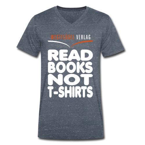 Westflügel Klassiker schwarz - Männer Bio-T-Shirt mit V-Ausschnitt von Stanley & Stella
