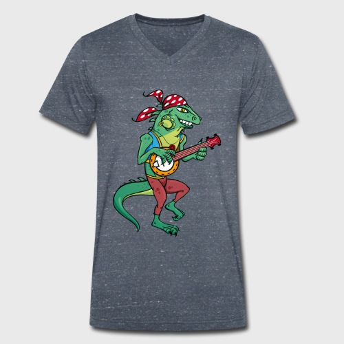 Tzigane iguane avec Banjo - T-shirt bio col V Stanley & Stella Homme