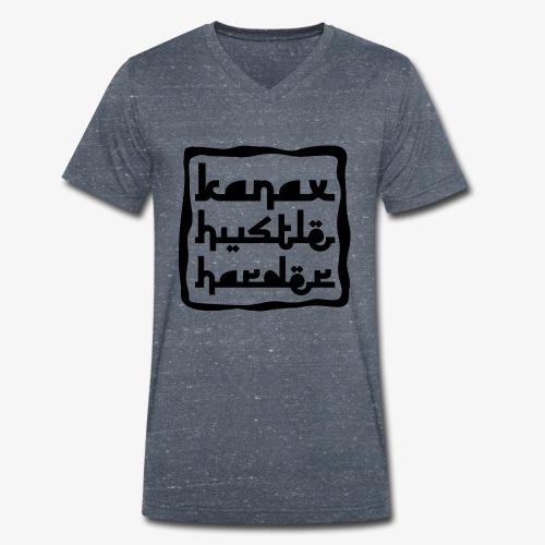 Kanax Hustle Harder black - Männer Bio-T-Shirt mit V-Ausschnitt von Stanley & Stella