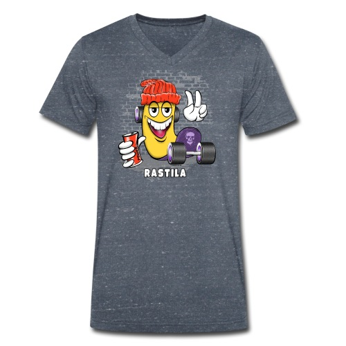 RASTILA SKATE 1 - Skateboard Helsinki - Stanley & Stellan miesten luomupikeepaita