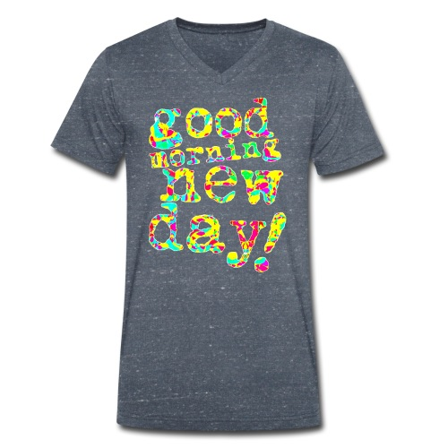 good morning new day yellow and red - Mannen bio T-shirt met V-hals van Stanley & Stella