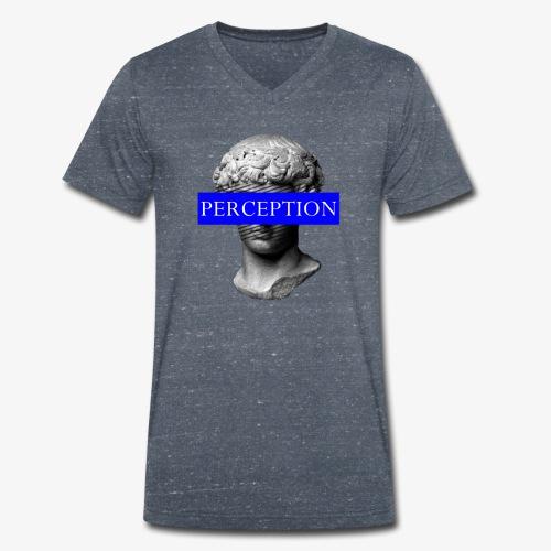 TETE GRECQ BLUE - PERCEPTION CLOTHING - T-shirt bio col V Stanley & Stella Homme