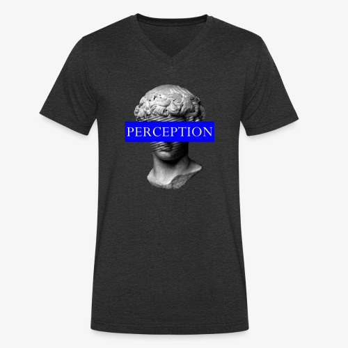 TETE GRECQ BLUE - PERCEPTION CLOTHING - T-shirt bio col V Stanley & Stella Homme
