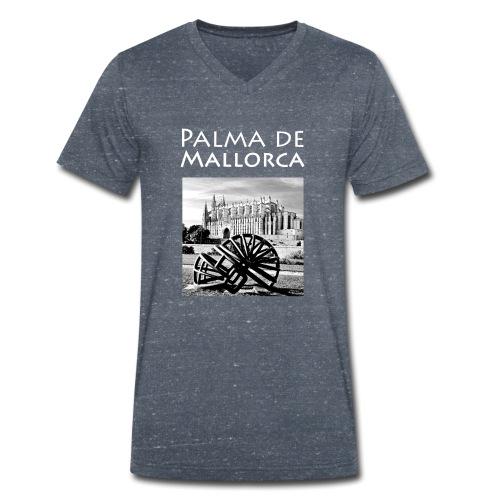 Palma de Mallorca mit Cathedrale Heiligen Maria - Männer Bio-T-Shirt mit V-Ausschnitt von Stanley & Stella