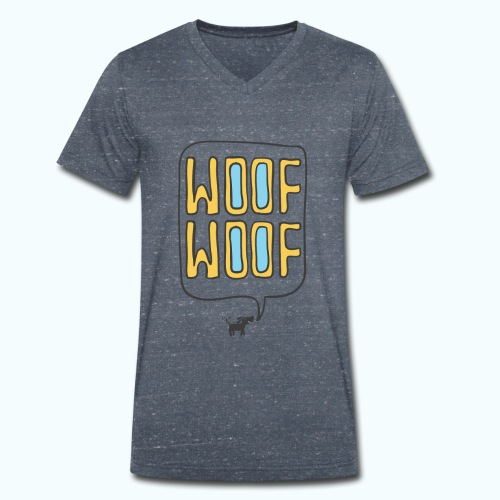Woof Woof - Men's Organic V-Neck T-Shirt by Stanley & Stella