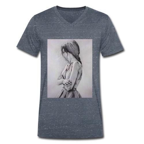 Dame portret - Männer Bio-T-Shirt mit V-Ausschnitt von Stanley & Stella
