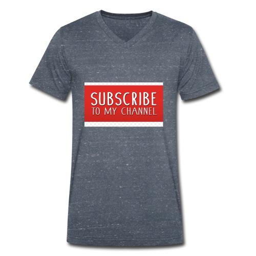 sub to galactic madman - Men's Organic V-Neck T-Shirt by Stanley & Stella