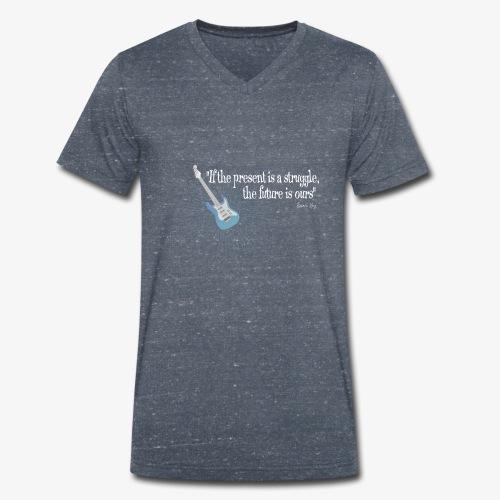 Frases celebres 01 - Camiseta ecológica hombre con cuello de pico de Stanley & Stella