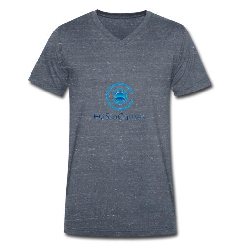 HasloGames Producten officieel logo - Mannen bio T-shirt met V-hals van Stanley & Stella