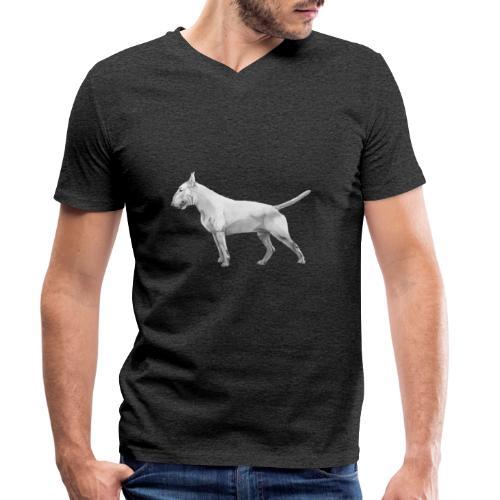 Bullterrier - Økologisk Stanley & Stella T-shirt med V-udskæring til herrer
