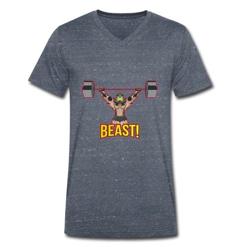 Beast Ente Entchen ententanz Ente gans - Männer Bio-T-Shirt mit V-Ausschnitt von Stanley & Stella