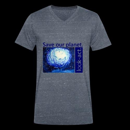 Save our planet. Unterwasserwelt. - Männer Bio-T-Shirt mit V-Ausschnitt von Stanley & Stella