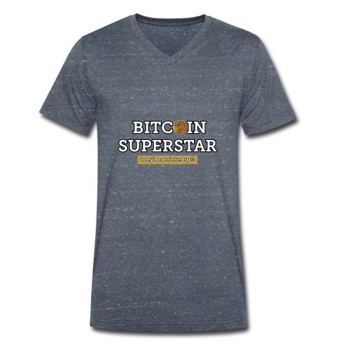 bitcoin superstar - T-shirt ecologica da uomo con scollo a V di Stanley & Stella