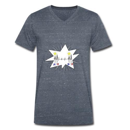 coupe du monde 2018 électrocardiogramme les bleus - T-shirt bio col V Stanley & Stella Homme